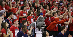 The Zags can't wait to get their students back in a couple of weeks. It's too damn quiet in the Kennel without them. - YOUNG KWAK PHOTO