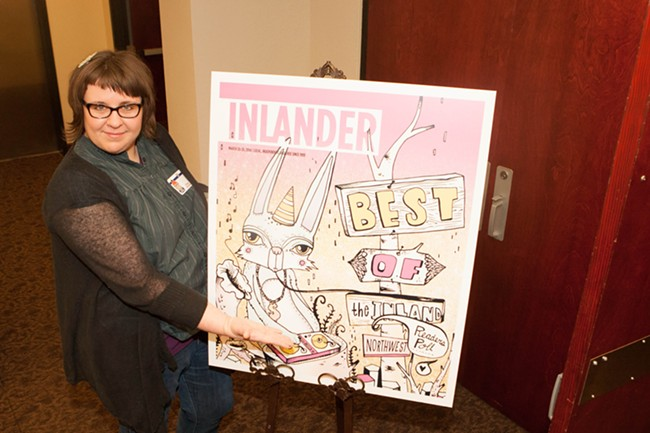 Tiffany Patterson shows off her artwork featured in the issue. - MEGHAN KIRK