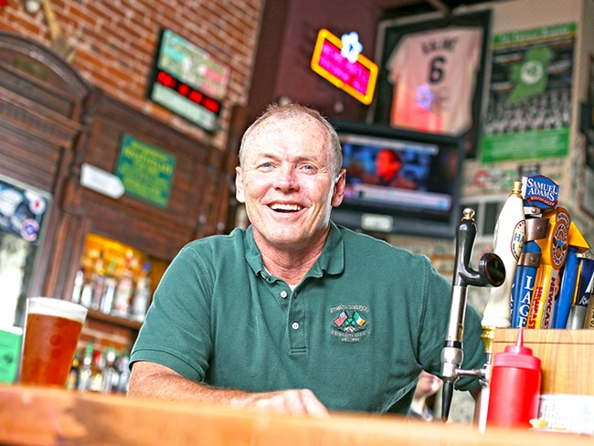 Tim O\'Doherty, owner of O\'Doherty\'s Irish Grille, is part of a local dining industry that employs 18,200 people. - YOUNG KWAK