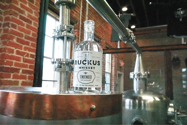 Tinbender Craft Distillery is now open in downtown Spokane. - COURTNEY BREWER