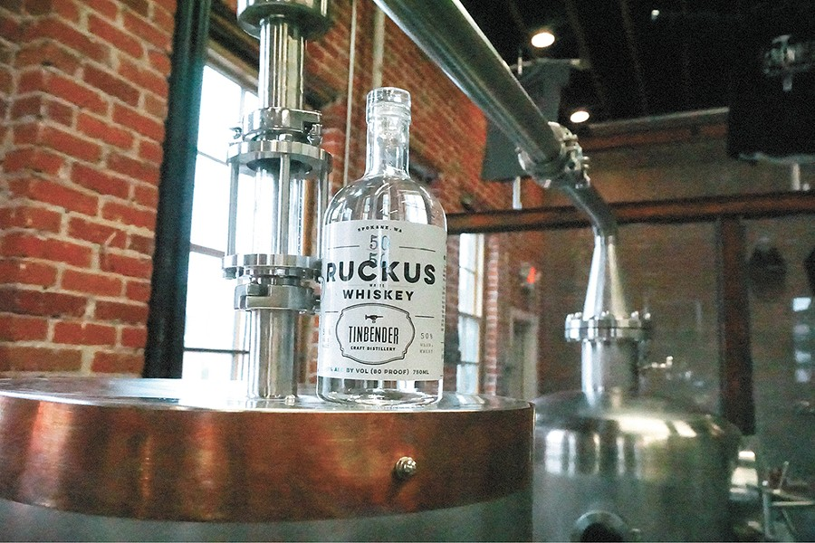 Tinbender Craft Distillery is now open in downtown Spokane. - COURTNEY BREWER