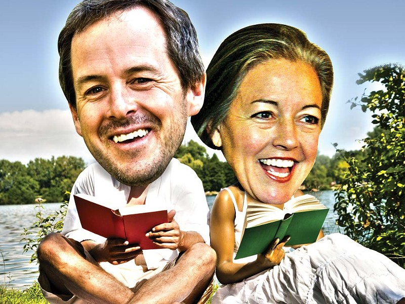 Todd Marshall and Mary Verner enjoy a good book. - ILLUSTRATION BY CHRIS BOVEY