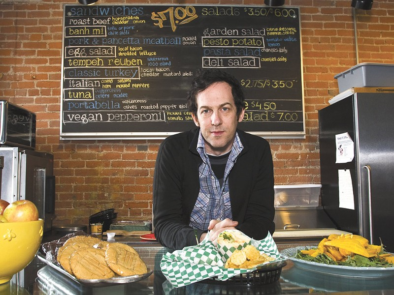 Tony Brown, along with his mother, Marta, opened Stella\\\'s Cafe last week. - JEFF FERGUSON