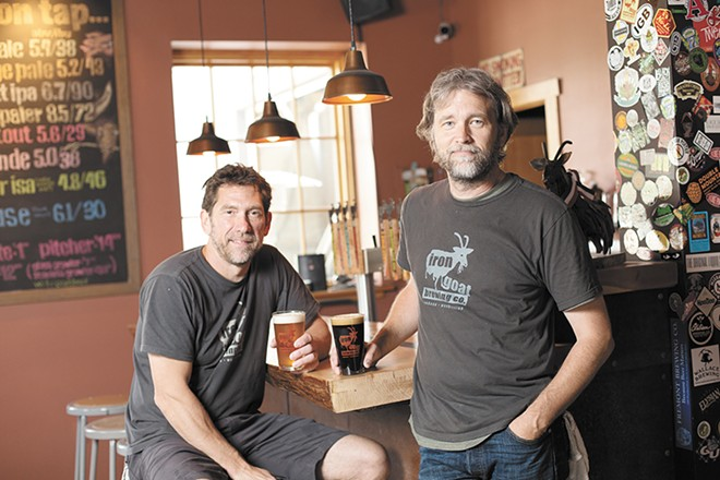 Two of the Iron Goat co-owners, Greg Brandt (left) and Paul Edminster. - YOUNG KWAK