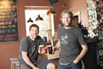 Two of the Iron Goat co-owners, Greg Brandt (left) and Paul Edminster.
