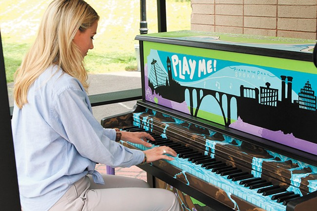 Find a piano at the Clock Tower in Riverfront Park, and play us a tune.