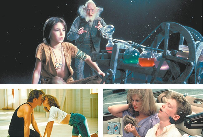 The '80s are alive this summer with (from top) The Neverending Story, Dirty Dancing and Sixteen Candles.