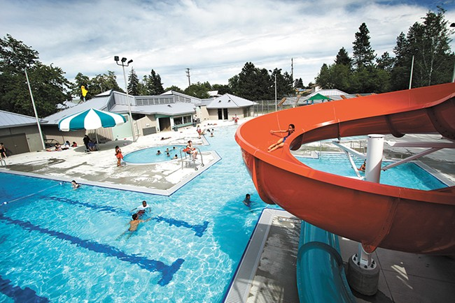 Open swim at all six of Spokane's city-run aquatic centers is free for everyone starting this summer. - YOUNG KWAK