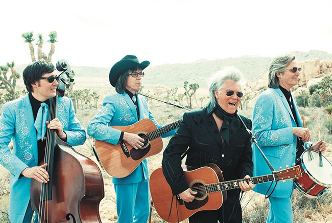 Marty Stuart (in black) and his Fabulous Superlatives. - ALYSSE GAFKJEN PHOTO