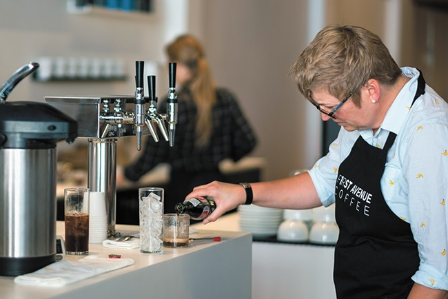 Roast House's new retail spot, First Avenue Coffee, opened in mid July. - HECTOR AIZON PHOTO