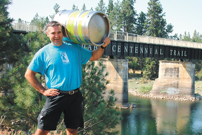 Todd Dunfield, executive director of the North Idaho Centennial Trail Foundation. - QUINN WELSCH PHOTO