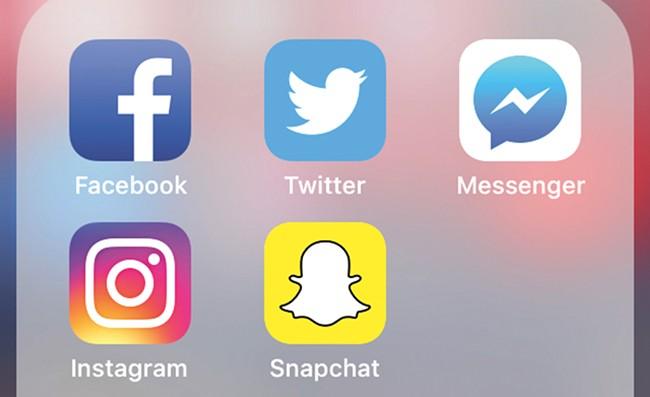 Instagram, Snapchat, Facebook, Twitter, repeat.