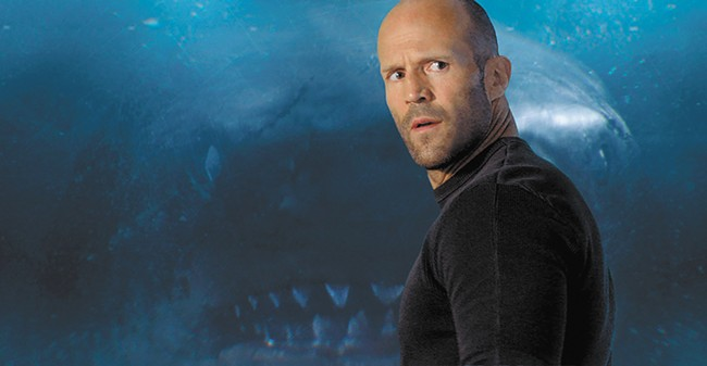 Into the shallows: Jason Statham's big fish story falls somewhere between Jaws and the Sharknado movies.