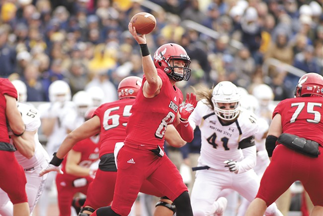 Senior quarterback Gabe Gubrud hopes to lead EWU to the playoffs. - YOUNG KWAK