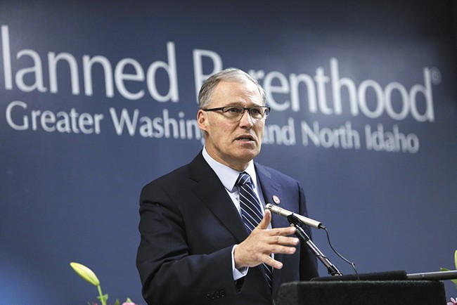 Gov. Jay Inslee says Washington state will do whatever it can to fight proposed changes to the federal Title X family planning program. - YOUNG KWAK