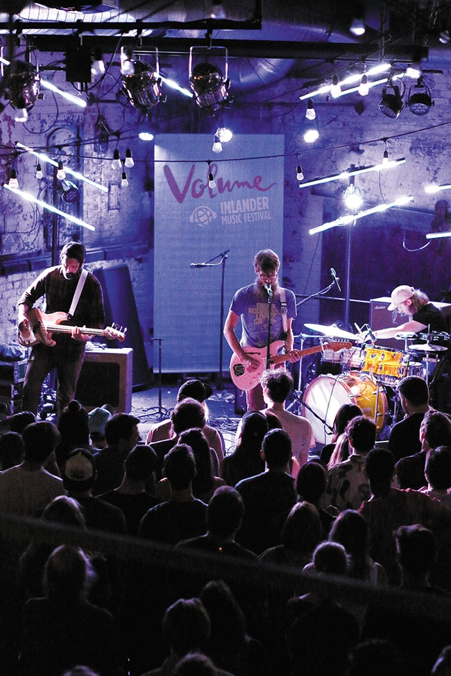Maps & Atlases performs at the Washington Cracker Co. Building during Volume. - YOUNG KWAK