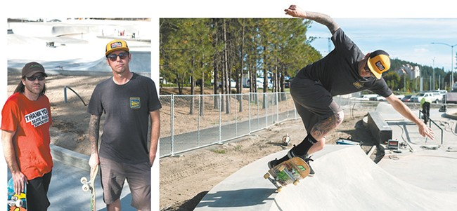 "Nathan ""Ope"" Baker and Jason ""Jay"" Olsen; Jay carving the bowl. - HECTOR AIZON PHOTOS"