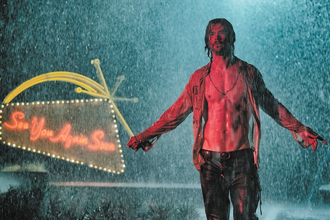 Chris Hemsworth makes joining a cult seem not so bad in the neo-noir curiosity Bad Times at the El Royale.