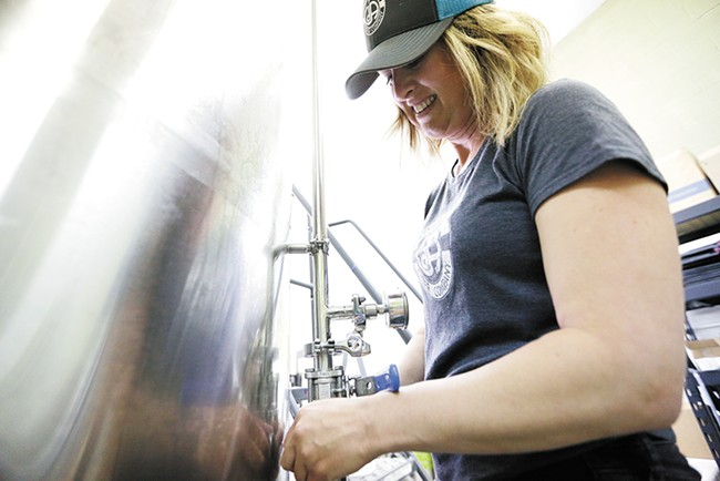Coeur d'Alene Cider Co.'s brewmaster and owner Jill Morrison. - YOUNG KWAK
