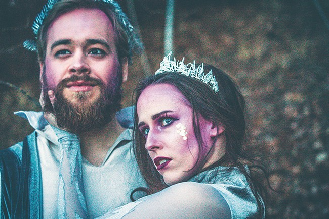 Gerrit Wilford and Paige Erbele as Shakespeare's Oberon and Titania. - DYLAN PAUL PHOTO