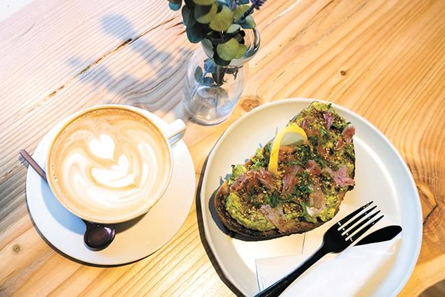 A mocha and Ladder's signature avocado toast. - HECTOR AIZON PHOTO