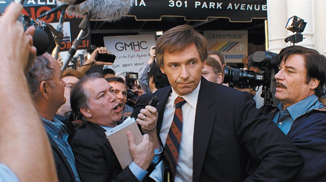 The man who wouldn't be king: Hugh Jackman is uncanny as disgraced politican Gary Hart.