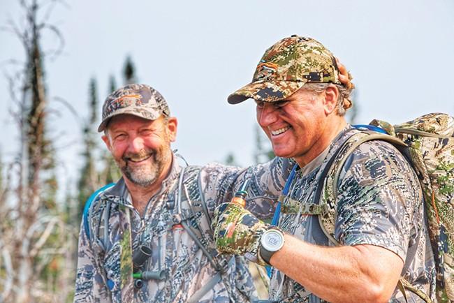 Bob Legasa (right), of Coeur d'Alene, survived a grizzly attack in the fall. - PHOTO COURTESY OF BOB LEGASA