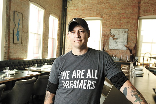 Chef Jeremy Hansen is using Restaurant Week to preview his new eatery Smoke & Mirrors. - YOUNG KWAK PHOTO