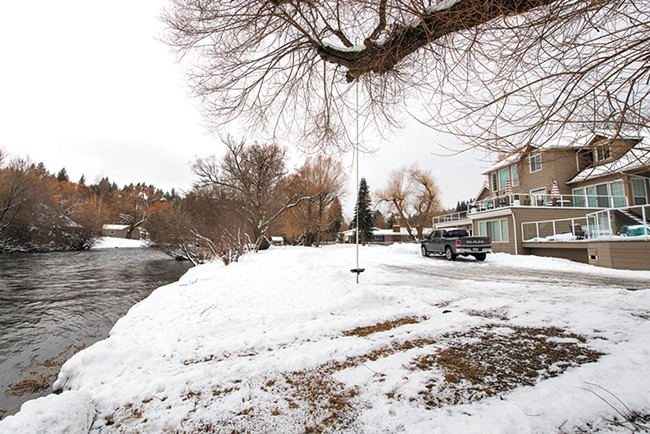 The Little Spokane River runs right by the six-unit adult home where Catherine Childs and Eloise Maddox live. - ERICK DOXEY PHOTO