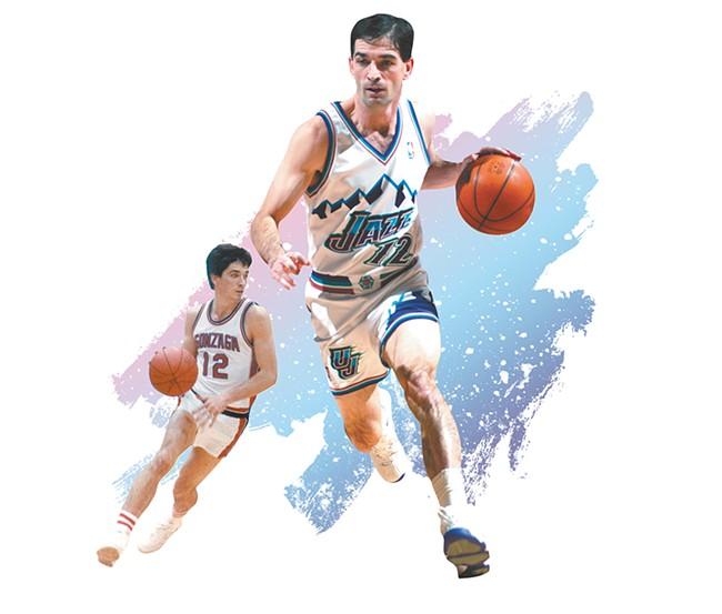 NBA Hall of Famer and Gonzaga legend John Stockton. - DEREK HARRISON PHOTO ILLUSTRATION