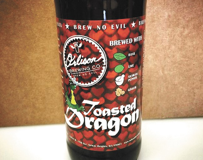 Orlison's new 22-ounce Toasted Dragon.
