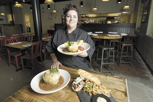 Chef Molly Patrick created a Southern-inspired menu for the Blackbird. - YOUNG KWAK