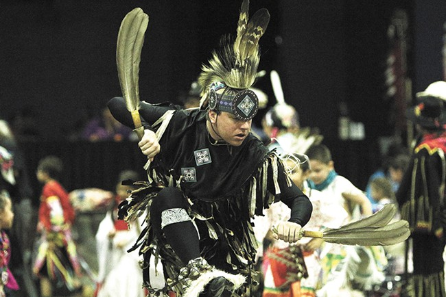 Robert Wynecoop, of the Spokane Tribe, dancing at an event earlier this year. Similar dances will be held at the first-ever Cultural Experience at the Coeur d'Alene Casino Resort. - YOUNG KWAK
