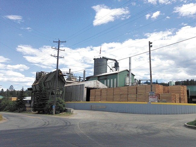 The Stimson Lumber mill employs about 100 people, many of them from Priest River. - MIKE BOOKEY