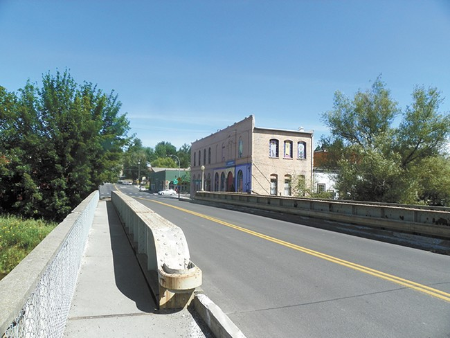 A bridge over the Palouse River leads to a lively Main Street. - DAN NAILEN