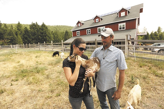 McLane Farms owners Angeline and Justin McLane take farm-to-table a step further than most, supplying their own restaurant, Garnet Cafe with vegetables, eggs, poultry and meat. - YOUNG KWAK