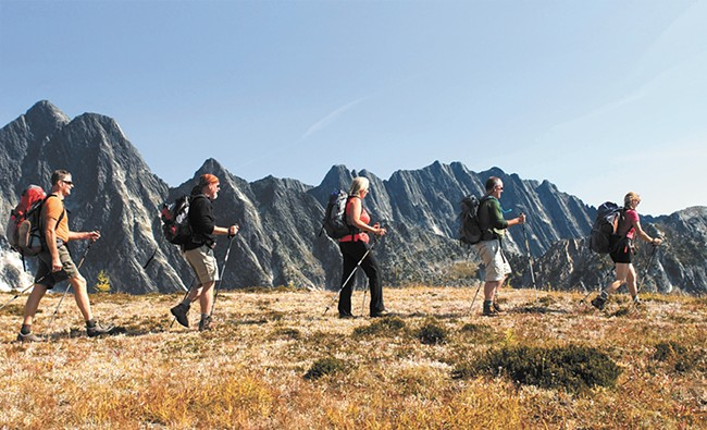 Roaming the Selkirk Mountains of British Columbia. - DAVID R. GLUNS PHOTO COURTESY OF MOUNTAIN TREK