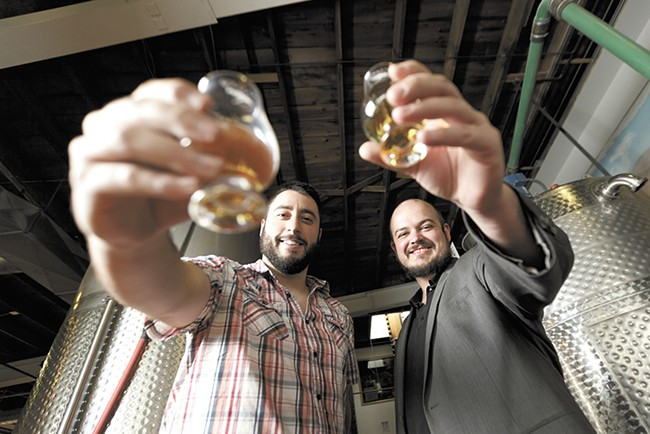 Distilling University co-owners Daniel Siegel, left, and Rockwell Rutter. - YOUNG KWAK