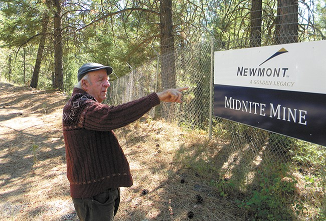 Randy Connolly, Superfund coordinator for the Spokane Tribe, outside of the Midnite Mine on the Spokane Reservation. - JAKE THOMAS