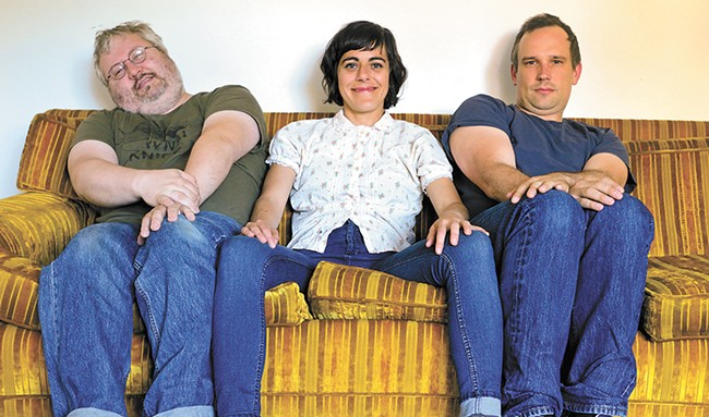 The Seattle-based Wimps' version of an awkward family photo.