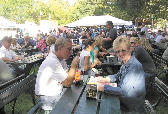 The crowds, and the portions, are big at Pig Out in the Park.