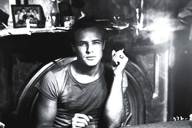 Marlon Brando looking appropriately legendary.