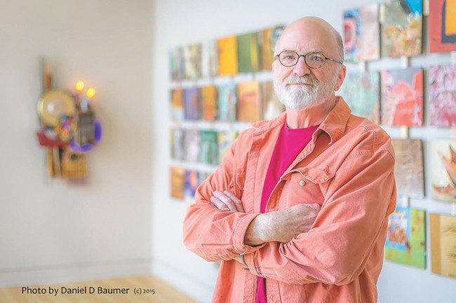 Larry Ellingson is known for using industrial materials in his artwork. - DAN BAUMER