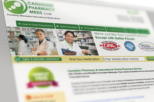 Patients still need a prescription to order from websites like canadianpharmacymeds.com