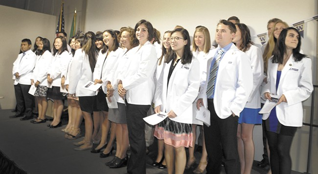 LEFT: Some of the 40 UW Med students studying in Spokane. - UW SCHOOL OF MEDICINE PHOTO