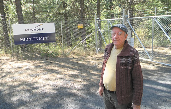 """""""It's always been hazardous,"""" says Randy Connolly, Superfund coordinator for the Spokane Tribe, at the entrance to the cleanup site. - JAKE THOMAS"""