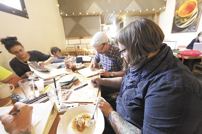 Artist Tiffany Patterson founded Spokane's Social Sketch in January. - YOUNG KWAK