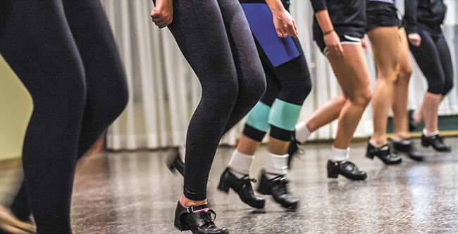 Fleet feet on display at the Haran School of Irish Dance. - JEFF FERGUSON
