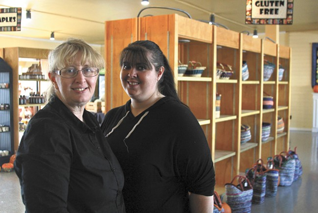 Marketplace owner Lori Musgrave (left) and her daughter, Holly, the store's manager. - QUINN WESTERN