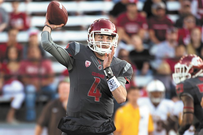 Quarterback Luke Falk was injured against Colorado and will likely miss the Apple Cup.